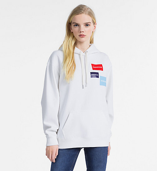 CALVIN KLEIN JEANS Multi Logo Hoodie - BRIGHT WHITE -  NEW IN - main image