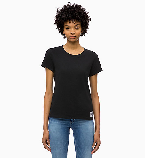 CALVIN KLEIN JEANS Basic Slim T-shirt - CK BLACK - CALVIN KLEIN JEANS NEW IN - main image