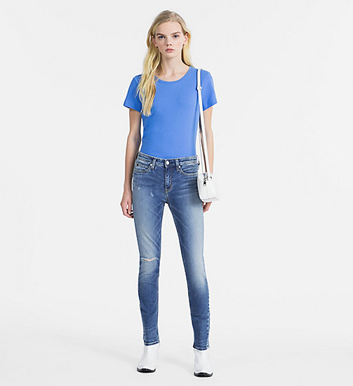 CALVIN KLEIN JEANS Basic Slim T-shirt - REGATTA - CALVIN KLEIN JEANS NEW IN - detail image 1