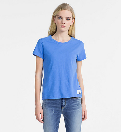CALVIN KLEIN JEANS Basic Slim T-shirt - REGATTA - CALVIN KLEIN JEANS NEW IN - main image