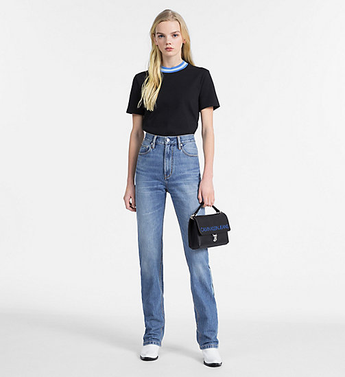 CALVIN KLEIN JEANS Contrast Neck T-shirt - CK BLACK - CALVIN KLEIN JEANS NEW IN - detail image 1