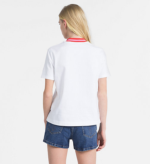 CALVIN KLEIN JEANS Contrast Neck T-shirt - BRIGHT WHITE - CALVIN KLEIN JEANS NEW IN - detail image 1