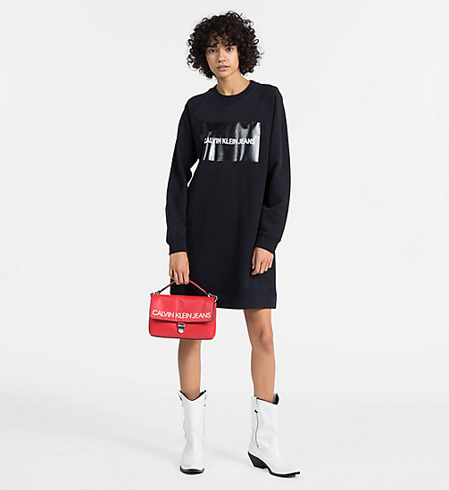 CALVIN KLEIN JEANS Logo Sweatshirt Dress - CK BLACK - CALVIN KLEIN JEANS CLOTHES - detail image 1