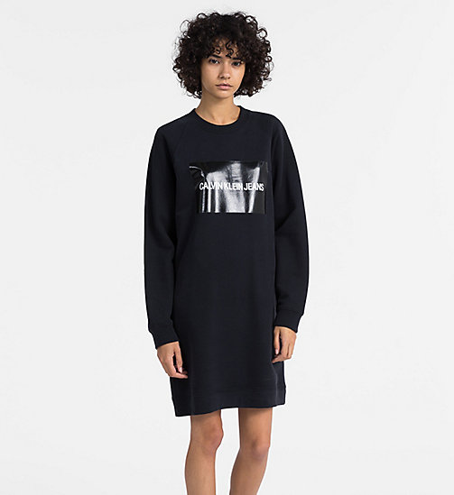 CALVIN KLEIN JEANS Logo Sweatshirt Dress - CK BLACK - CALVIN KLEIN JEANS CLOTHES - main image