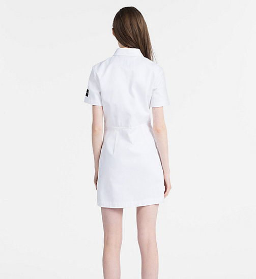 CALVIN KLEIN JEANS Canvas Zip-Up Dress - BRIGHT WHITE - CALVIN KLEIN JEANS DRESSES - detail image 1
