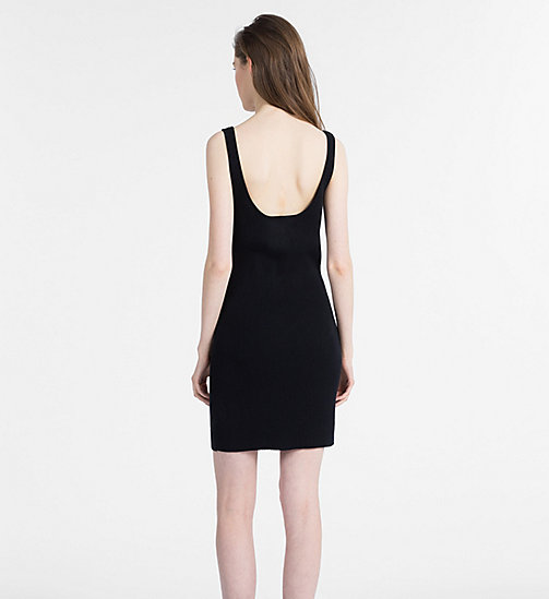 CALVIN KLEIN JEANS Sleeveless Knit Dress - CK BLACK - CALVIN KLEIN JEANS DRESSES - detail image 1