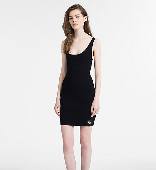 CALVIN KLEIN JEANS Sleeveless Knit Dress - CK BLACK - CALVIN KLEIN JEANS NEW IN - main image