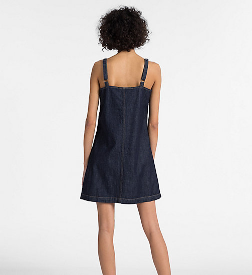 CALVIN KLEIN JEANS A-Line Denim Slip Dress - DARK INDIGO - CALVIN KLEIN JEANS NEW ICONS - detail image 1