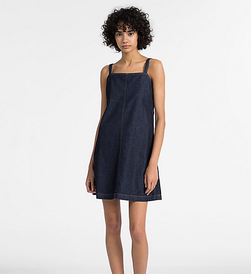 CALVIN KLEIN JEANS A-Line Denim Slip Dress - DARK INDIGO - CALVIN KLEIN JEANS NEW IN - main image