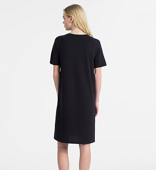 CALVIN KLEIN JEANS Logo T-shirt Dress - CK BLACK - CALVIN KLEIN JEANS NEW IN - detail image 1