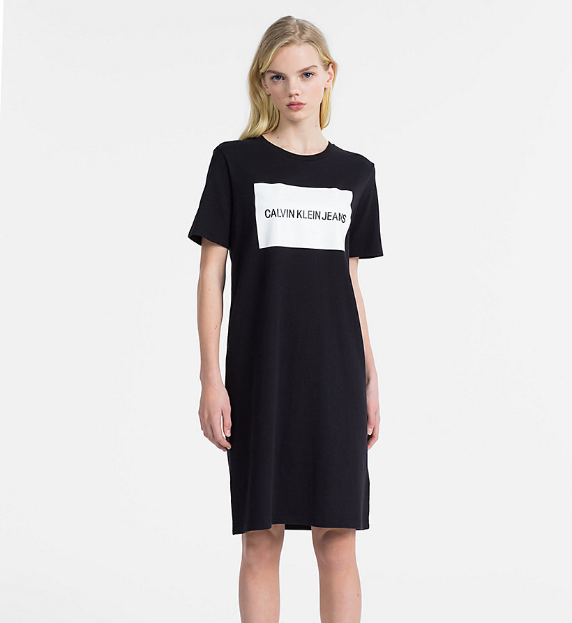 CALVIN KLEIN JEANS Logo T-shirt Dress - BRIGHT WHITE - CALVIN KLEIN JEANS WOMEN - main image