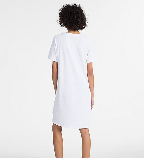 CALVIN KLEIN JEANS Logo T-shirt Dress - BRIGHT WHITE - CALVIN KLEIN JEANS CLOTHES - detail image 1