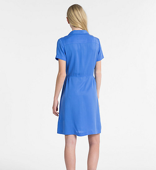CALVIN KLEIN JEANS Short-Sleeve Tea Dress - REGATTA - CALVIN KLEIN JEANS DRESSES - detail image 1