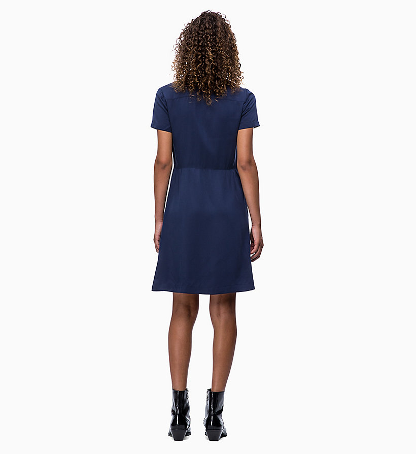 CALVIN KLEIN JEANS Short-Sleeve Tea Dress - REGATTA - CALVIN KLEIN JEANS WOMEN - detail image 1