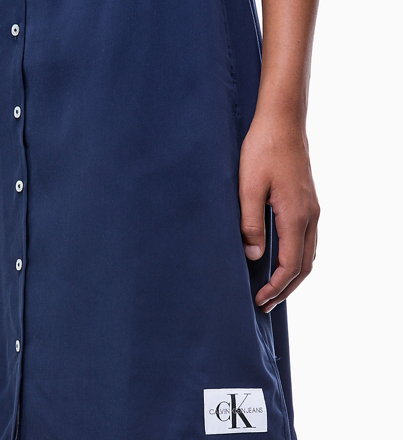 CALVIN KLEIN JEANS Short-Sleeve Tea Dress - REGATTA - CALVIN KLEIN JEANS WOMEN - detail image 2
