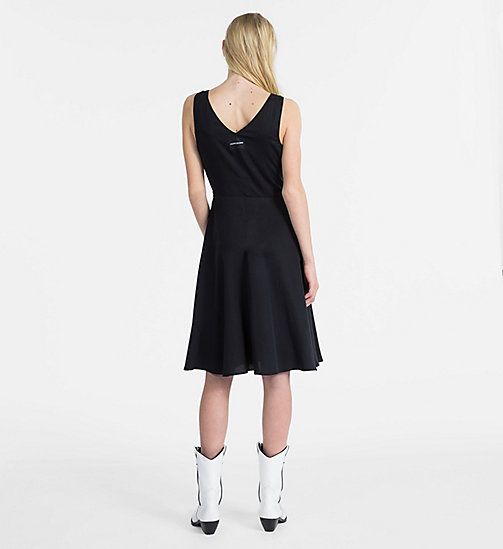 CALVIN KLEIN JEANS Sleeveless Fit and Flare Dress - CK BLACK - CALVIN KLEIN JEANS DRESSES - detail image 1