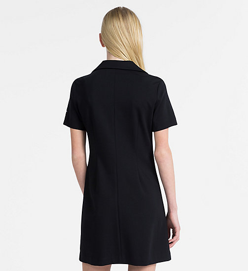 CALVIN KLEIN JEANS Jersey Zip-Up Dress - CK BLACK - CALVIN KLEIN JEANS DRESSES - detail image 1