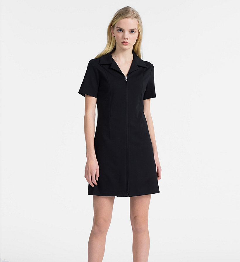 CALVIN KLEIN JEANS Jersey Zip-Up Dress - TOMATO - CALVIN KLEIN JEANS WOMEN - main image