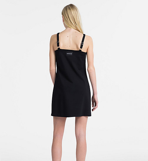 CALVIN KLEIN JEANS A-Line Milano Jersey Slip Dress - CK BLACK -  NEW IN - detail image 1