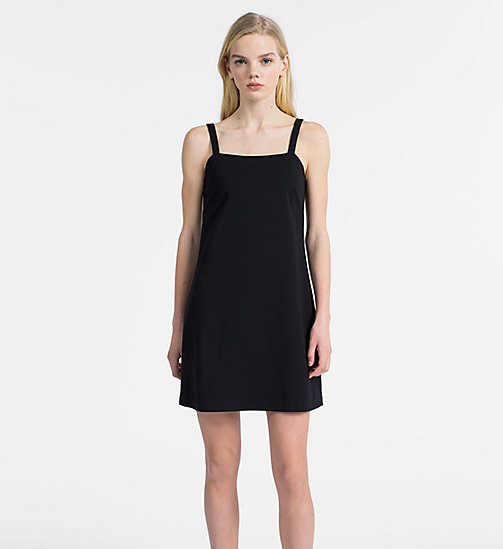 CALVIN KLEIN JEANS A-Line Milano Jersey Slip Dress - CK BLACK - CALVIN KLEIN JEANS NEW IN - main image