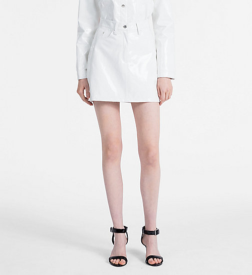 CALVIN KLEIN JEANS Vinyl Mini Skirt - BRIGHT WHITE -  CLOTHES - main image