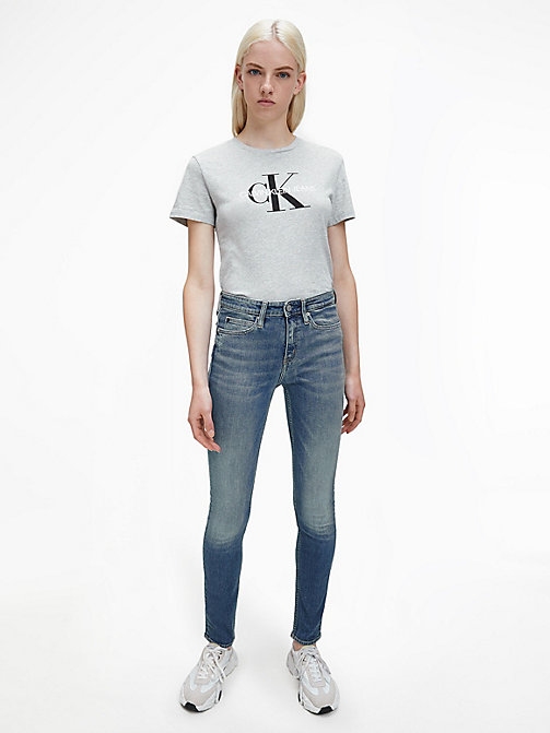 CALVIN KLEIN JEANS Logo T-shirt - LIGHT GREY HEATHER - CALVIN KLEIN JEANS T-SHIRTS - detail image 1