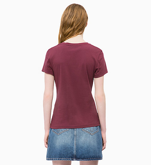 CALVIN KLEIN JEANS Slim Logo-T-Shirt - TAWNY PORT - CALVIN KLEIN JEANS CLOTHES - main image 1