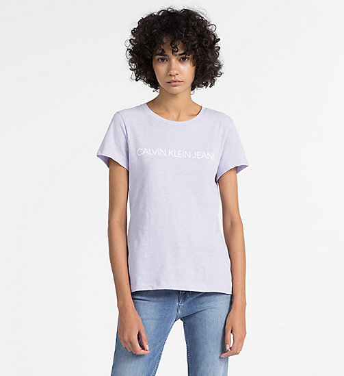 CALVIN KLEIN JEANS Slim Logo T-shirt - ORCHID PETAL - CALVIN KLEIN JEANS NEW IN - main image