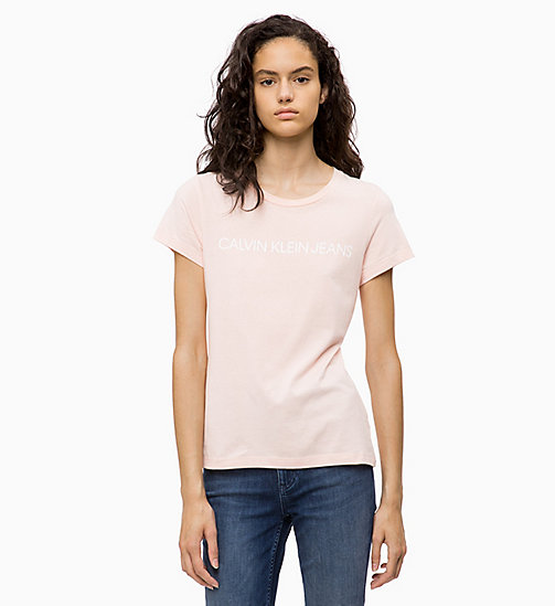 CALVIN KLEIN JEANS Slim Logo T-shirt - CHINTZ ROSE - CALVIN KLEIN JEANS NEW IN - main image