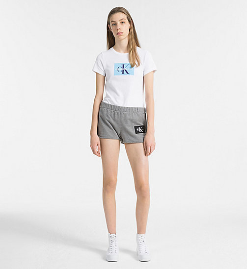 CALVIN KLEIN JEANS Slim Logo T-shirt - BRIGHT WHITE / SKY BLUE - CALVIN KLEIN JEANS NEW IN - detail image 1