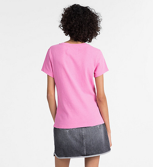 CALVIN KLEIN JEANS Slim Logo T-shirt - WILD ORCHID -  NEW IN - detail image 1