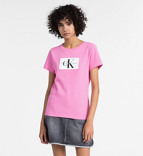 CALVIN KLEIN JEANS Slim Logo T-shirt - WILD ORCHID -  NEW IN - main image