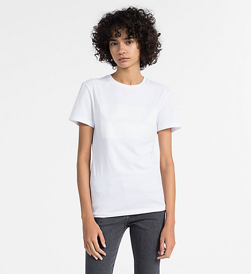 CALVIN KLEIN JEANS Logo T-shirt - BRIGHT WHITE -  NEW IN - main image