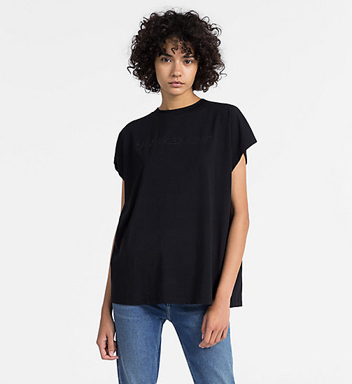 CALVIN KLEIN JEANS Oversized Logo T-shirt - CK BLACK -  NEW IN - main image