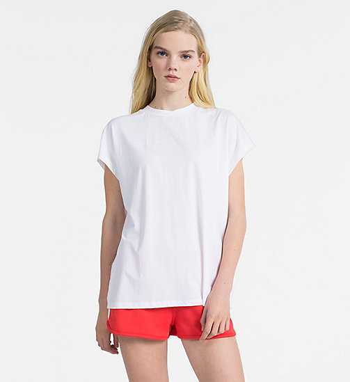 CALVIN KLEIN JEANS Oversized Logo T-shirt - BRIGHT WHITE - CALVIN KLEIN JEANS NEW IN - main image