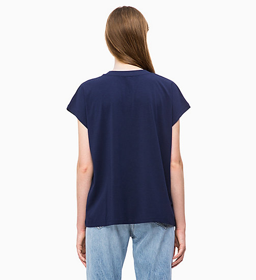 CALVIN KLEIN JEANS Oversized Logo T-shirt - PEACOAT - CALVIN KLEIN JEANS CLOTHES - detail image 1