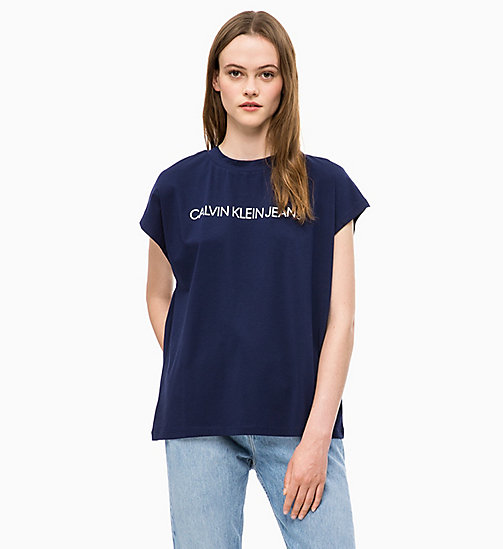 CALVIN KLEIN JEANS Oversized Logo T-shirt - PEACOAT - CALVIN KLEIN JEANS CLOTHES - main image