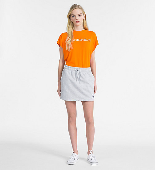 CALVIN KLEIN JEANS Oversized Logo T-shirt - ORANGE TIGER 16-1358 TCX - CALVIN KLEIN JEANS NEW IN - detail image 1