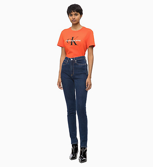 CALVIN KLEIN JEANS Slim Logo T-shirt - PUMPKIN RED - CALVIN KLEIN JEANS FALL DREAMS - detail image 1