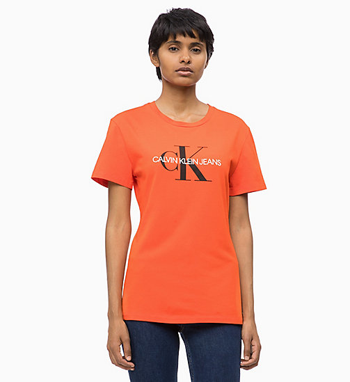 CALVIN KLEIN JEANS Slim Logo T-shirt - PUMPKIN RED - CALVIN KLEIN JEANS FALL DREAMS - main image