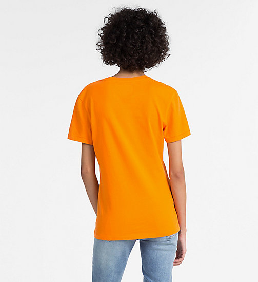 CALVIN KLEIN JEANS Logo T-shirt - ORANGE TIGER 16-1358 TCX - CALVIN KLEIN JEANS NEW IN - detail image 1