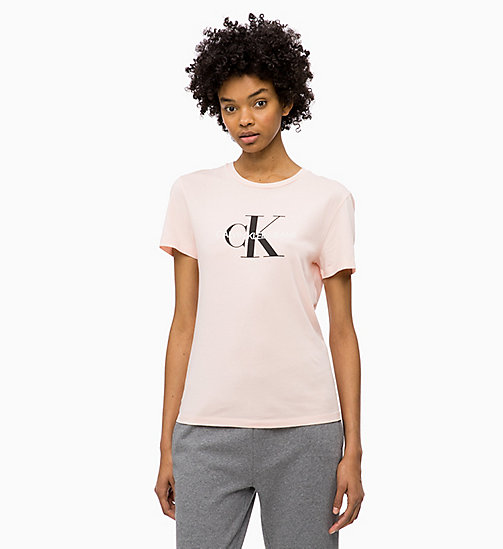 CALVIN KLEIN JEANS Logo-T-Shirt - CHINTZ ROSE - CALVIN KLEIN JEANS NEW IN - main image