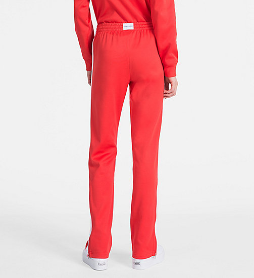 CALVIN KLEIN JEANS Straight Side-Stripe Jogging Pants - TOMATO - CALVIN KLEIN JEANS CLOTHES - detail image 1