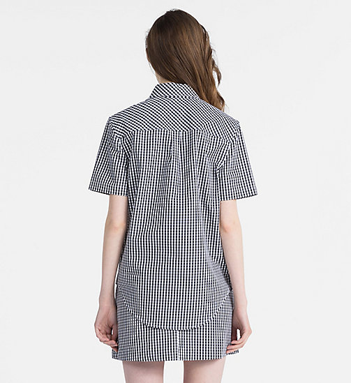 CALVIN KLEIN JEANS Gingham Short-Sleeve Shirt - CK BLACK / BRIGHT WHITE - CALVIN KLEIN JEANS CLOTHES - detail image 1