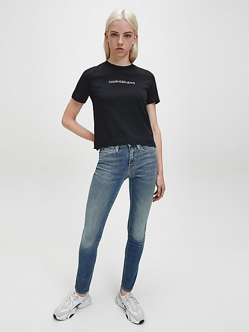 CALVIN KLEIN JEANS CKJ 011 Mid Rise Skinny Jeans - LONDON MID BLUE - CALVIN KLEIN JEANS THE DENIM INDEX - dettaglio immagine 1