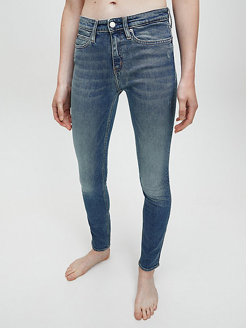 CALVIN KLEIN JEANS CKJ 011 Mid Rise Skinny Jeans - LONDON MID BLUE - CALVIN KLEIN JEANS THE DENIM INDEX - main image