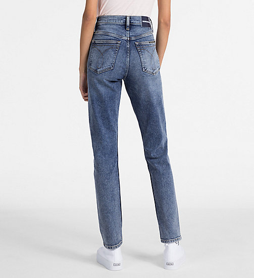 CALVIN KLEIN JEANS CKJ 020 High Rise Slim Jeans - APTOS BLUE - CALVIN KLEIN JEANS NEW IN - detail image 1