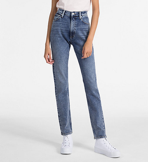 CALVIN KLEIN JEANS CKJ 020 High Rise Slim Jeans - APTOS BLUE - CALVIN KLEIN JEANS NEW IN - main image
