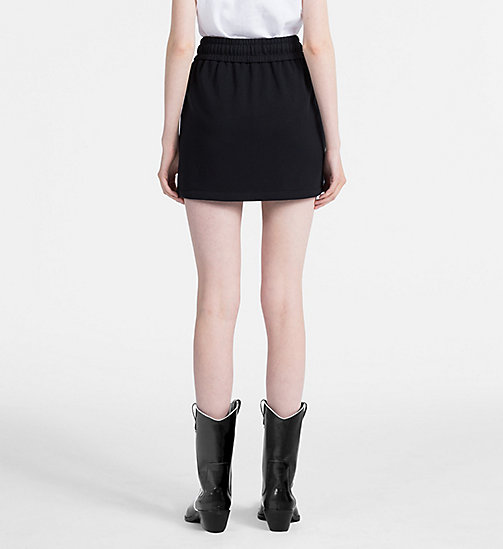 CALVIN KLEIN JEANS Cotton Terry Logo Mini Skirt - CK BLACK - CALVIN KLEIN JEANS LOGO SHOP - detail image 1