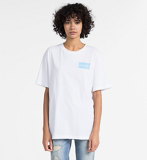 CALVIN KLEIN JEANS Logo Boyfriend T-shirt - BRIGHT WHITE -  CLOTHES - main image